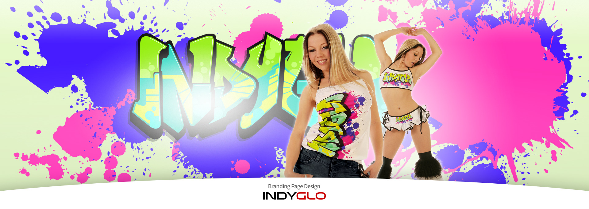 Indyglo Brand Page Backdrop - Graffiti