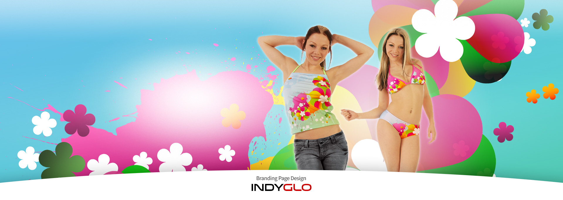 Indyglo Brand Page Backdrop - Hippy Love