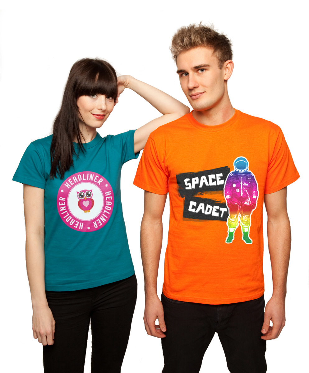 T-Shirt Designs - Space Cadet & Headliner