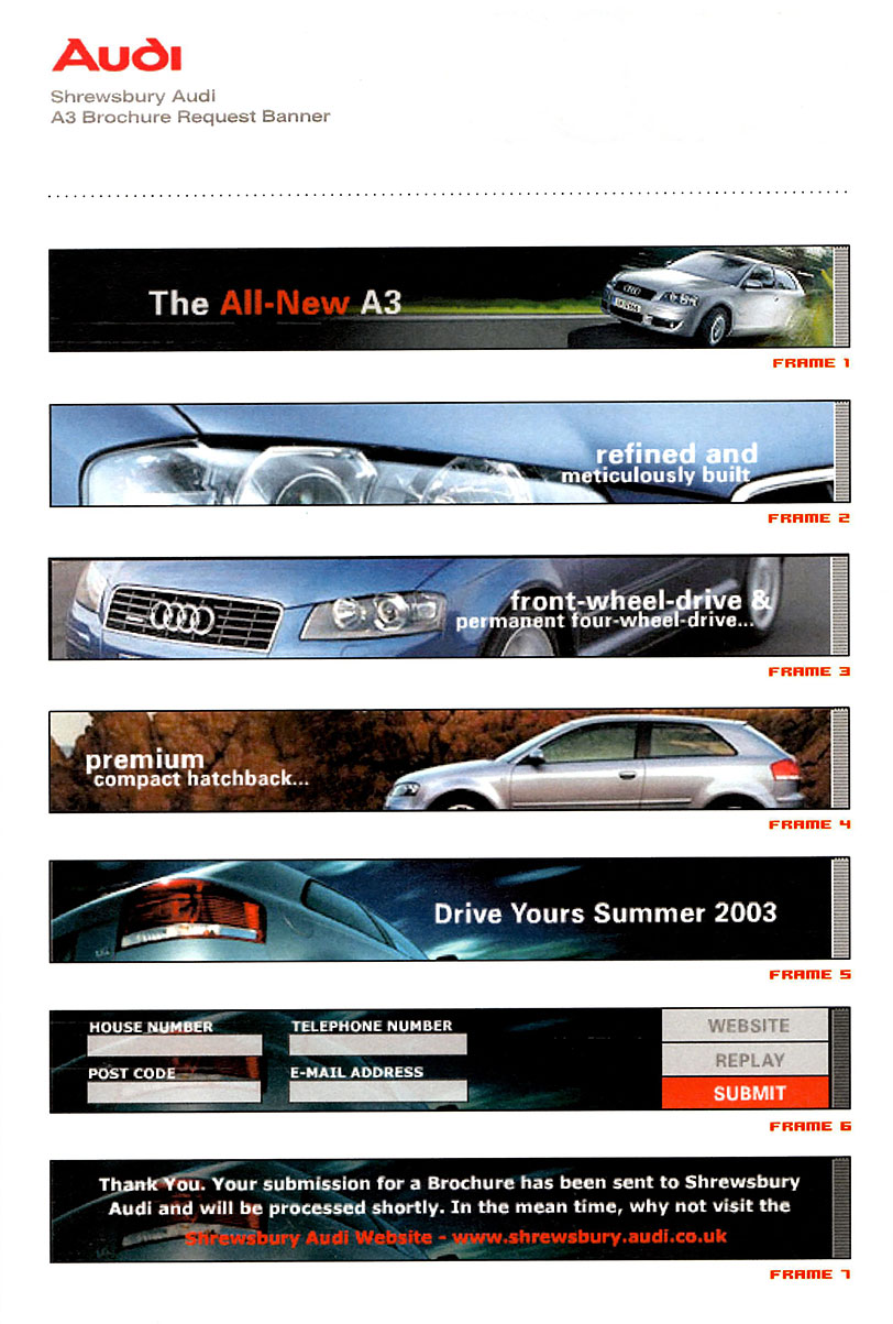 Audi Banner - Brochure Request A3